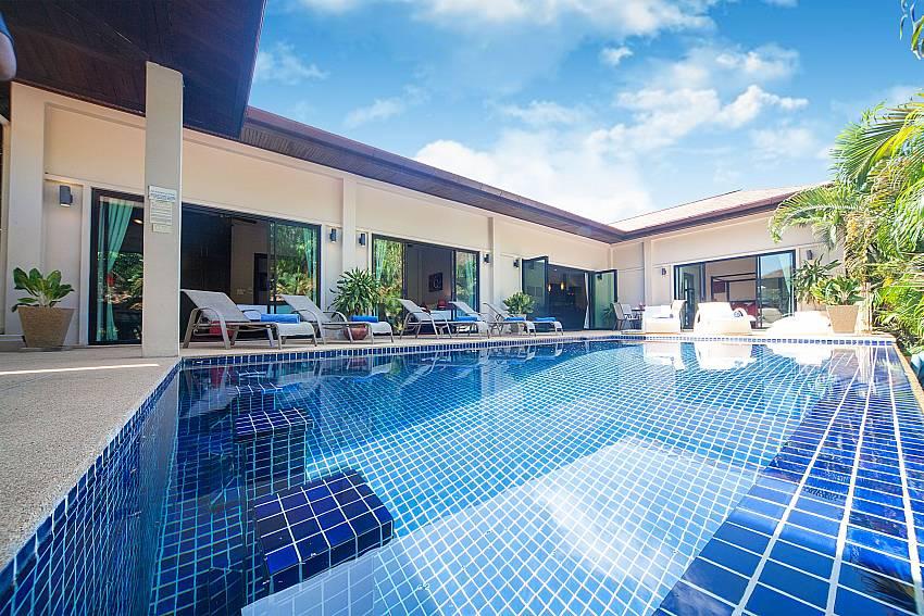 Big private swimming pool at Villa Gaew Jiranai in South Phuket