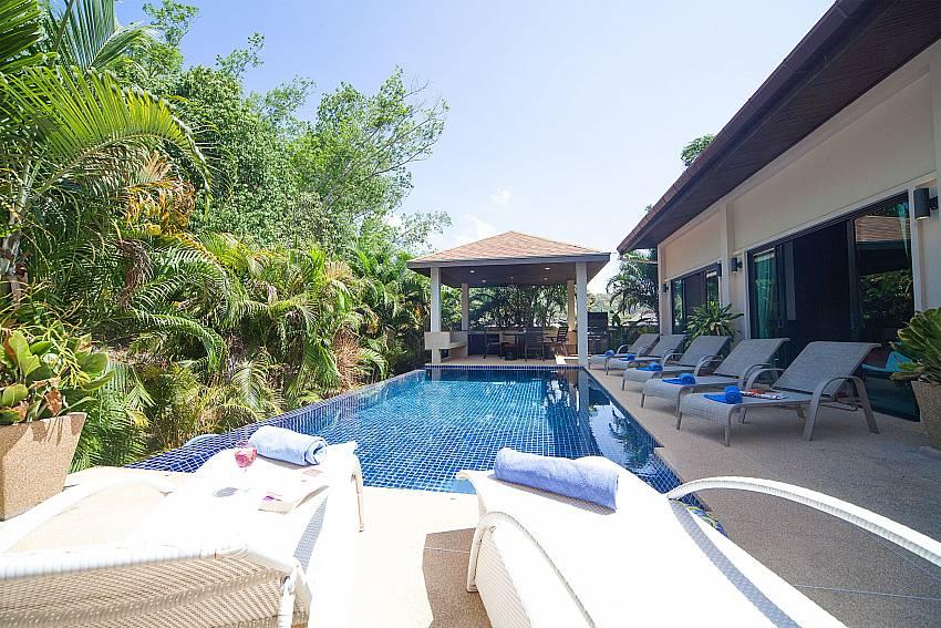 Perfect relaxing by the pool of Villa Gaew Jiranai Nai Harn Phuket