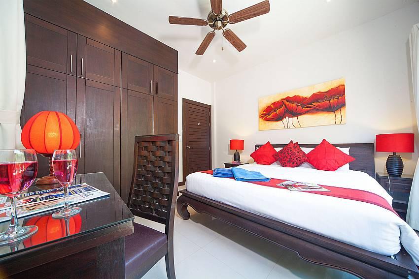 King size bed in third bedroom of Villa Gaew Jiranai Phuket