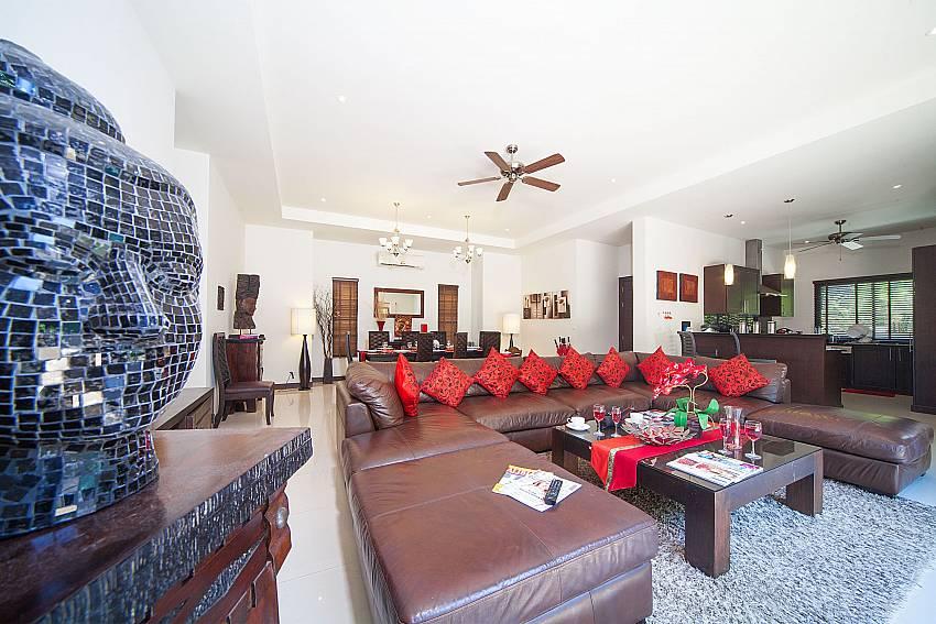 Huge living area at Villa Gaew Jiranai in Hai Narn South Phuket