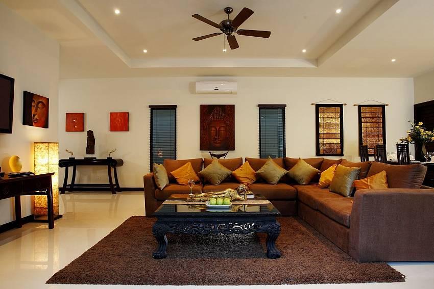 Big sofa at the lounge in Villa Phailin Talay South Phuket