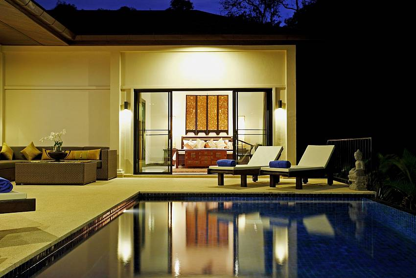 Dreamlike setting by the pool of Phailin Talay in South Phuket