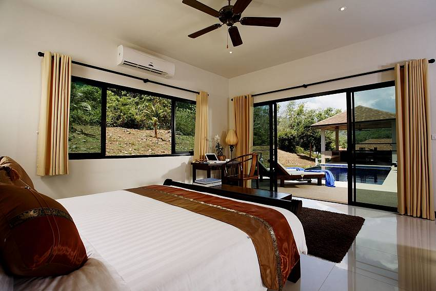 Direct pool access from the master bedroom in Phailin Talay Phuket