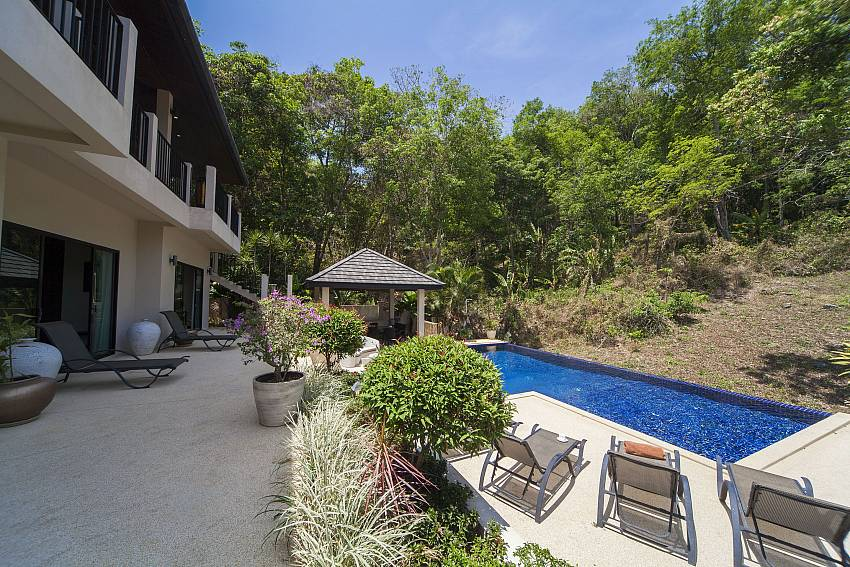 Patio and Sun Deck-Ploi Attitaya_6 bedroom villa_Private Pool_Nai Harn_Rawai_Phuket_Thailand