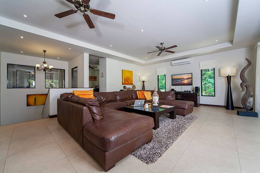 Large Comfortable Living Room-Ploi Attitaya_6 bedroom villa_Private Pool_Nai Harn_Rawai_Phuket_Thailand
