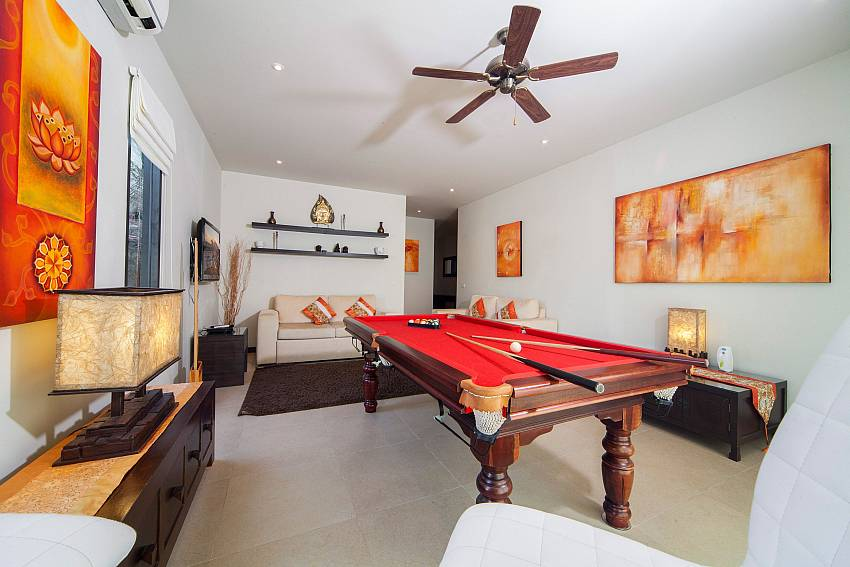 Full Size Pool Table Games Room-Ploi Attitaya_6 bedroom villa_Private Pool_Nai Harn_Rawai_Phuket_Thailand
