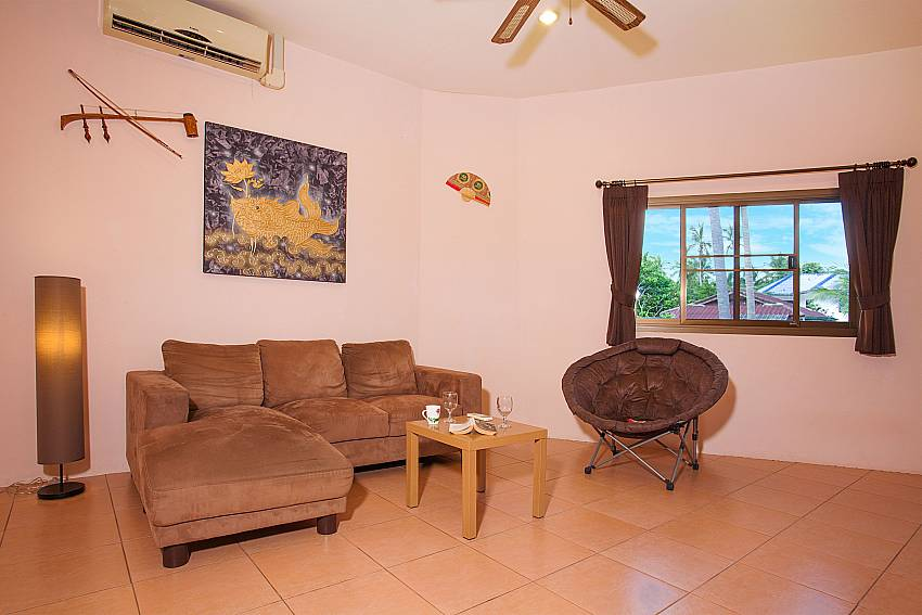 comfortable sitting in the living room of Wan Hyud Apartment No.12 Samui