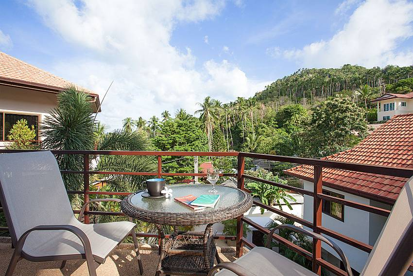 Spendid view from balcony at Wan Hyud Apartment No.12 Koh Samui