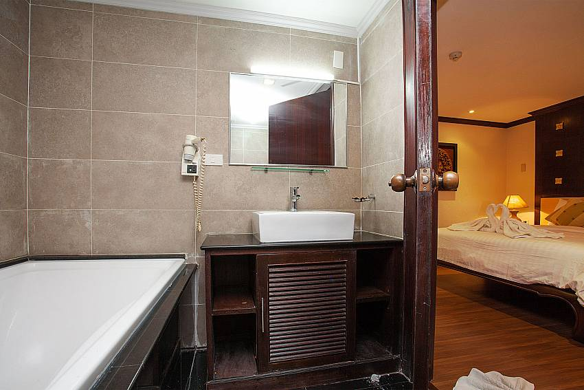 en suite bathroom at 4 seat dining table at Nirvana Apartment No.603  in Jomtien south Pattaya