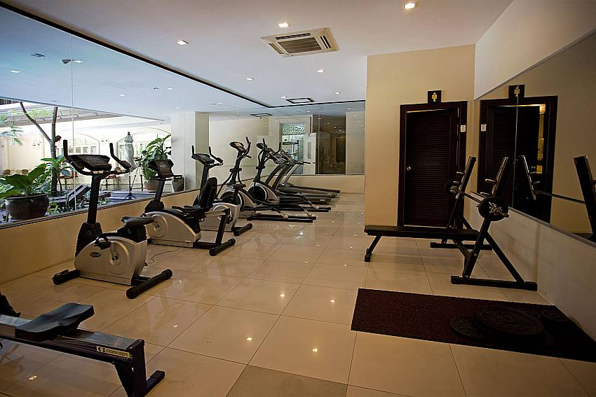 Gym for guests of Nirvana Apartment No.603 in Jomtien Pattaya Thailand