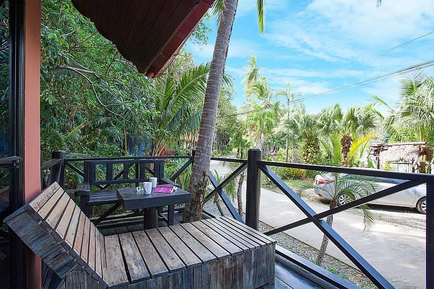 Seat area Natures Oasis Resort No.9 in Bang Bao Koh Chang