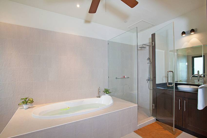 Bath tub in some of the bathrooms at Morakot Villa Phuket