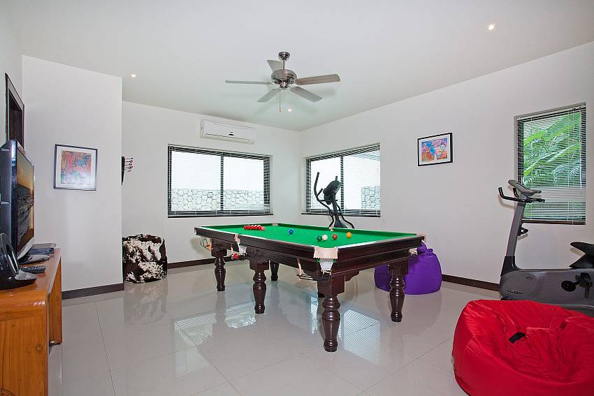 Games and fitness room at Morakot Villa in Nai Harn South Phuket