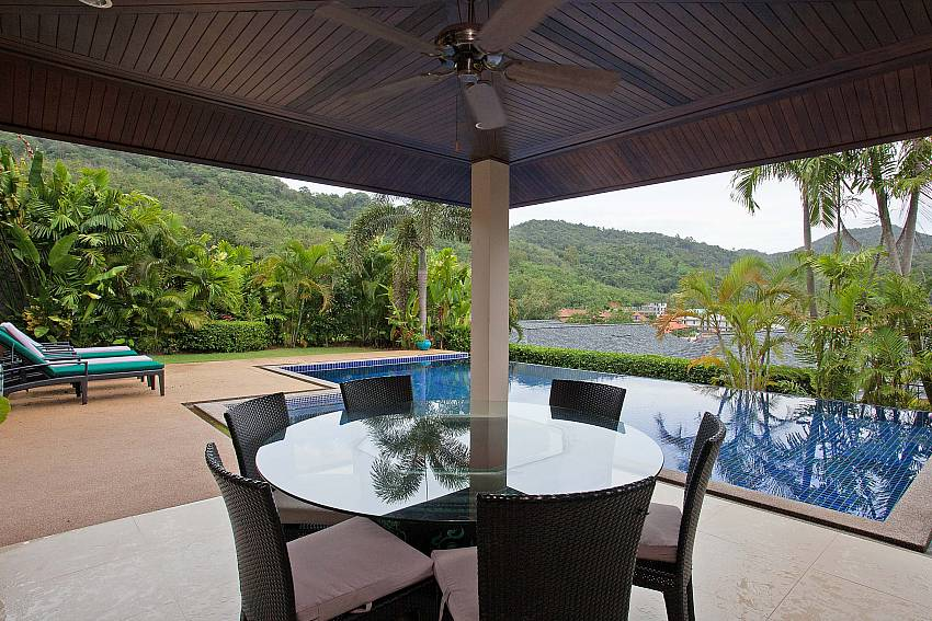Pavilion by the private pool at Morakot Villa South Phuket