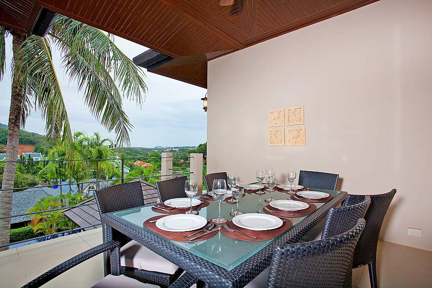 Al Fresco Dining with great views-Morakot Villa_6 Bedroom_Private Pool Villa_Nai Harn_Phuket_Thailand