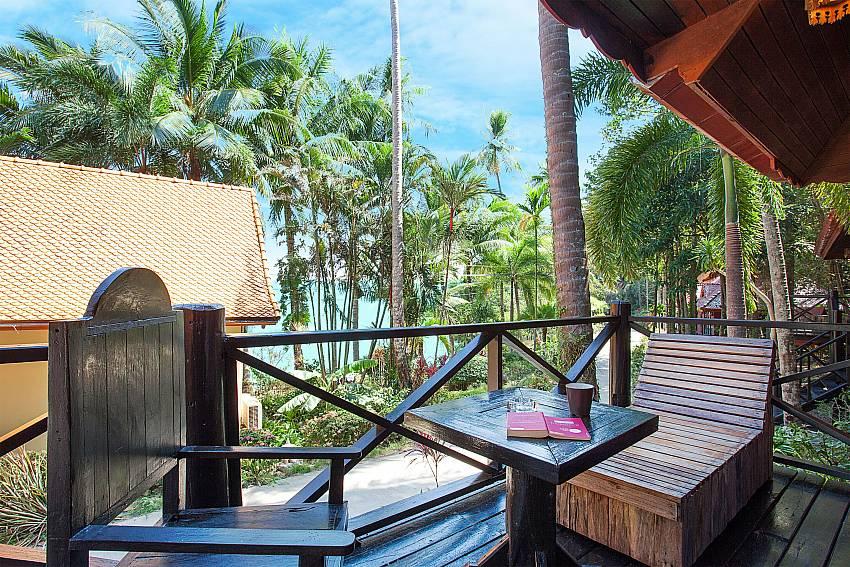Seat area Natures Oasis Resort No.5 at Bang Bao Koh Chang