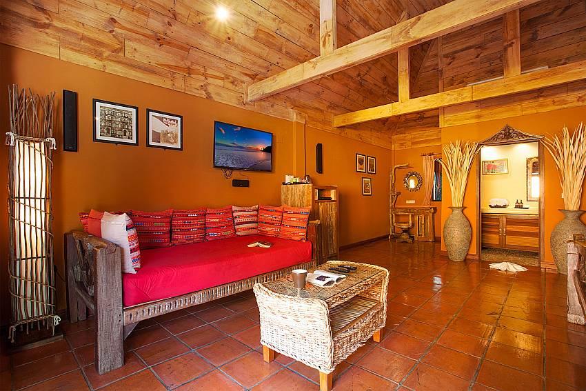 Living area with TV Natures Oasis Resort No.5 at Bang Bao Koh Chang