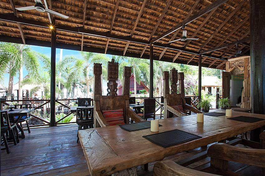 Dinning area Natures Oasis Resort No.5 at Bang Bao Koh Chang