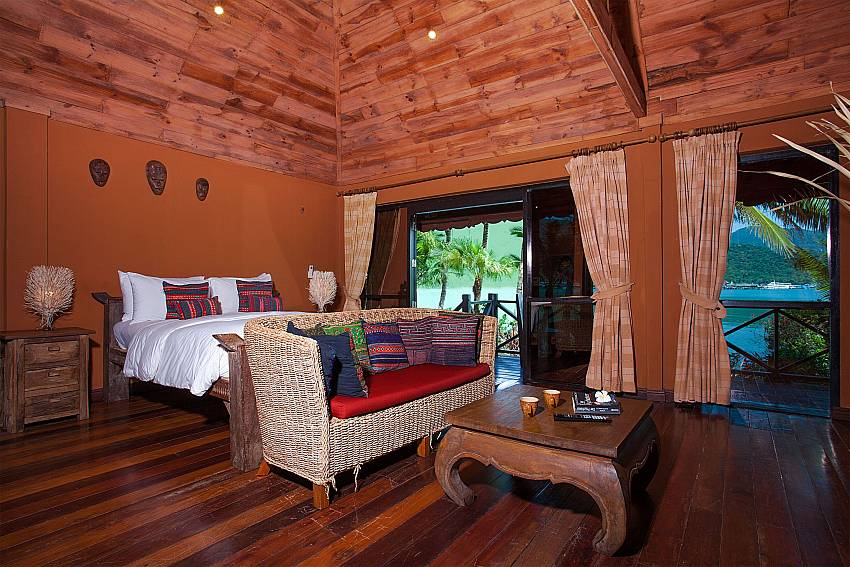 Bedroom Natures Oasis Resort No.7A in Bang Bao Koh Chang