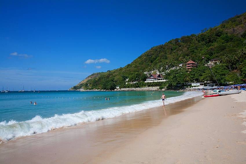 Beautiful Nai Harn Beach is close to Ploi Jantra Villa in Phuket