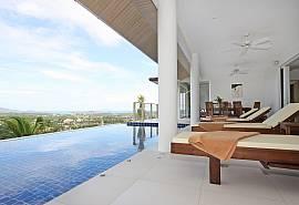 วิลล่าอลังการอันดามัน - บ้านพักตากอากาศภูเก็ตราไวย์ให้เช่ารายวัน 5 ห้องนอน สระส่วนตัว โต๊ะพูล อ่างอาบน้ำและวิวทะเล