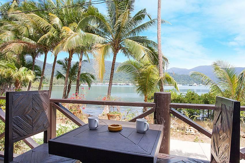 Seat area Natures Oasis Resort No.7B in Bang Bao Koh Chang