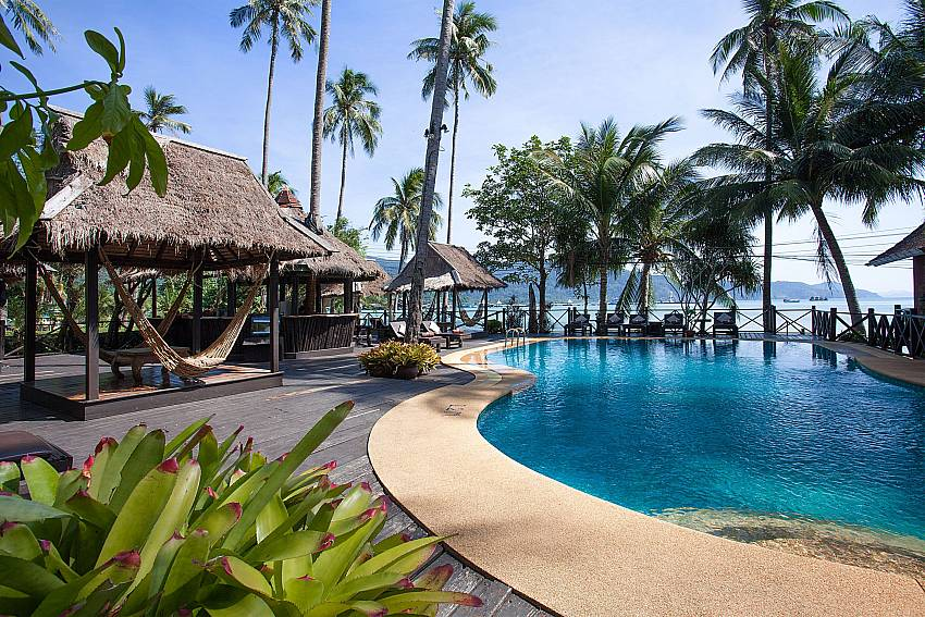 Pavilion near swimming pool Natures Oasis Resort No.8B at Bang Bao Koh Chang