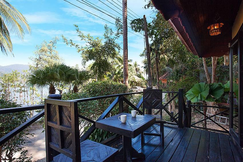 Seat area Natures Oasis Resort No.8B at Bang Bao Koh Chang