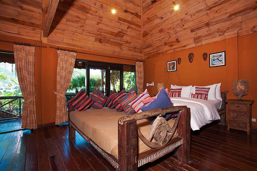 Bedroom Natures Oasis Resort No.8B at Bang Bao Koh Chang