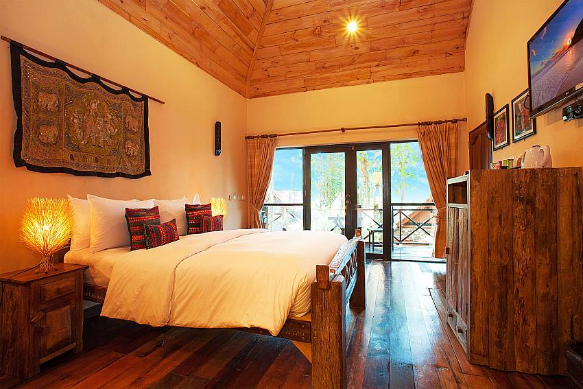 Bedroom with TV Natures Oasis Resort No.10A in Southern Koh Chang