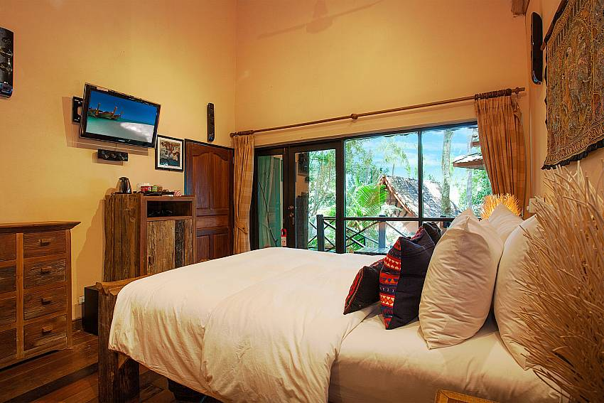 Bedroom with TV Natures Oasis Resort No.10B in South Koh Chang