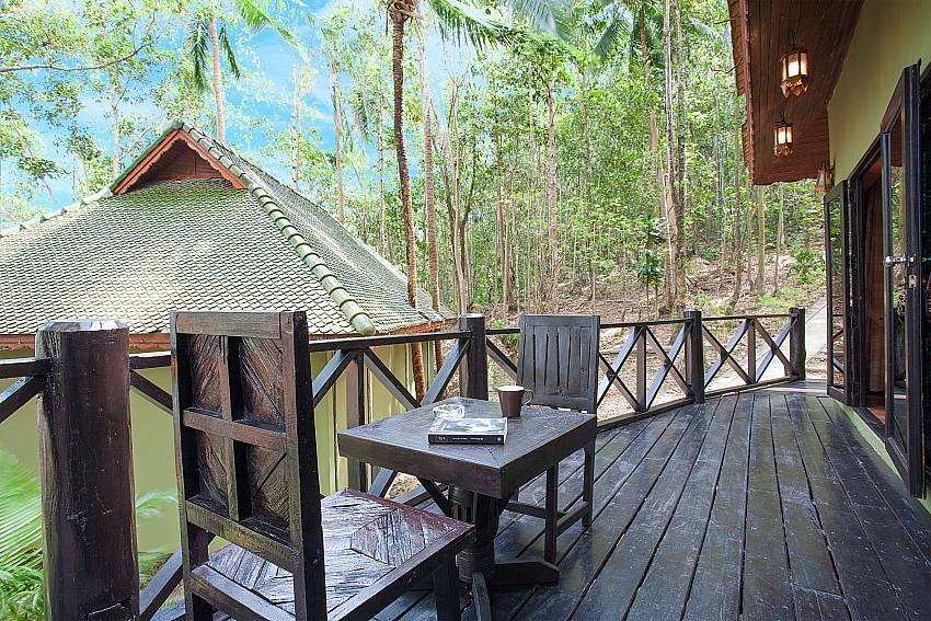 Seat area Natures Oasis Resort No.11A in Southern Koh Chang