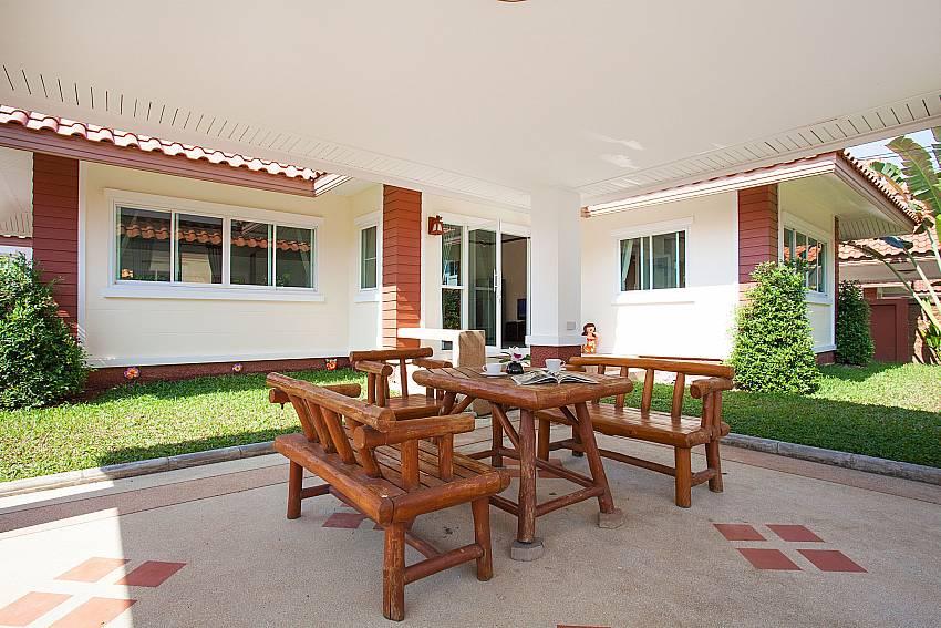 Dinning area Timberland Lanna Villa 301 in Bangsaray Pattaya