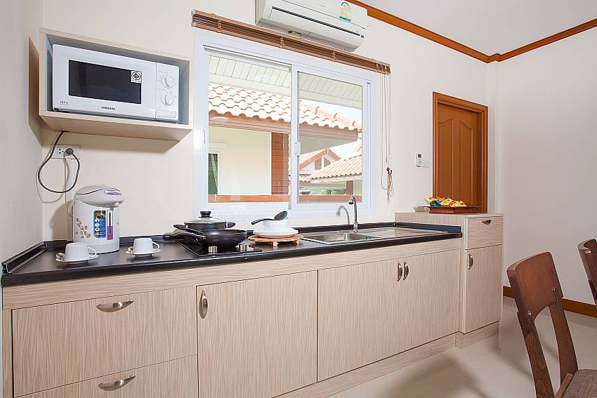 Kitchen Timberland Lanna Villa 301 in Bangsaray Pattaya