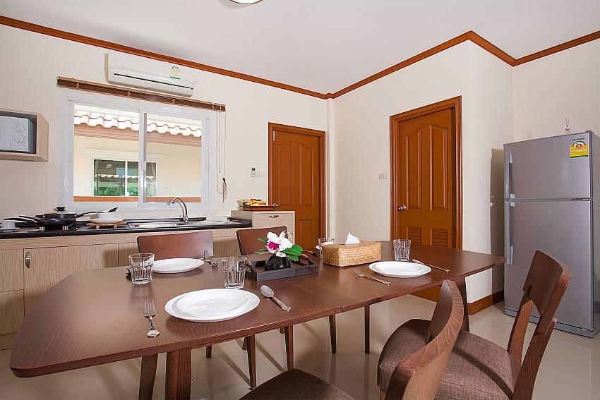 Dinning area Timberland LannaVilla 301 in Bangsaray Pattaya
