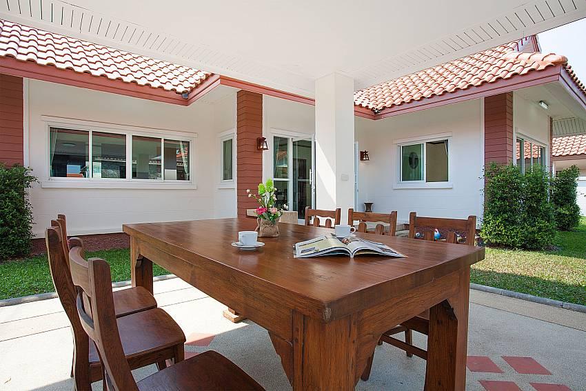 Dinning area Timberland Lanna Villa 302 in Bangsaray Pattaya