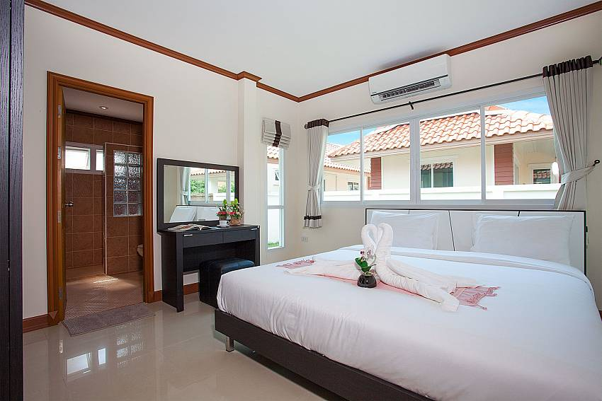 Bedroom Timberland Lanna Villa 302 in Bangsaray Pattaya