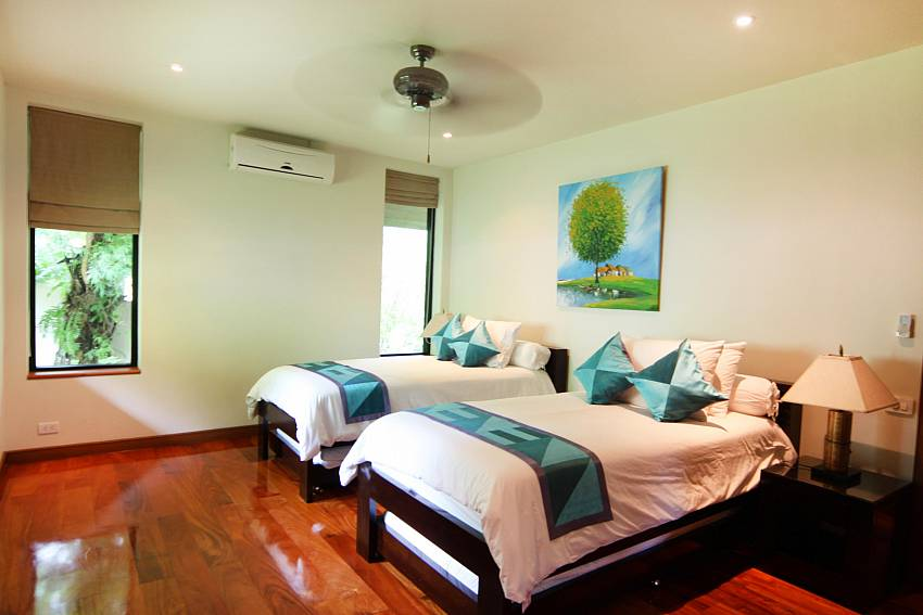 Second Twin Bedroom-narumon-villa_5-bedroom_serviced-pool-villa_nai-harn_phuket_thailand