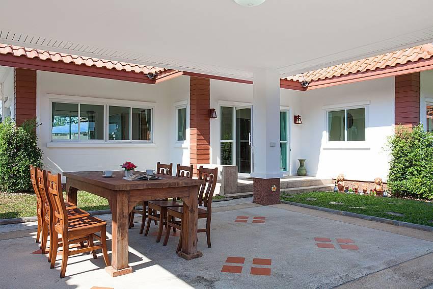 Dinning area Timberland Lanna Villa 303 in Bangsaray Pattaya