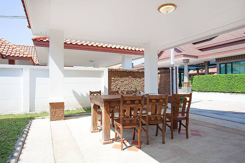 Dinning area Timberland Lanna Villa 304 in Bangsaray Pattaya