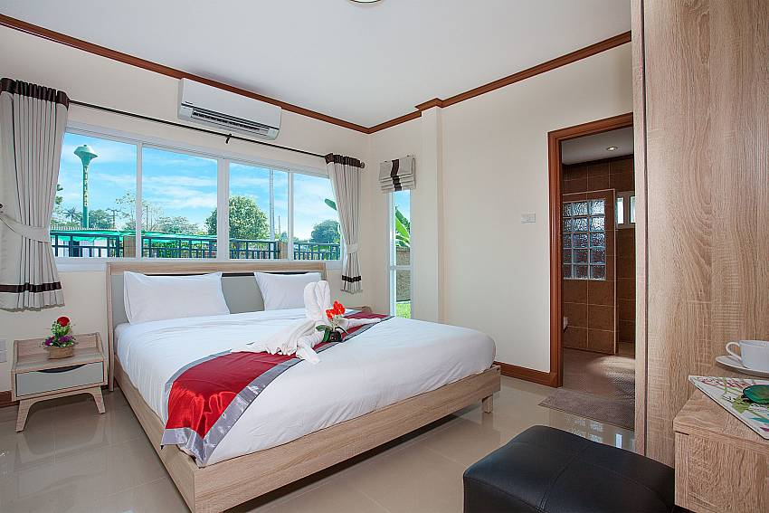 Bedroom Timberland Lanna Villa 304 in Bangsaray Pattaya