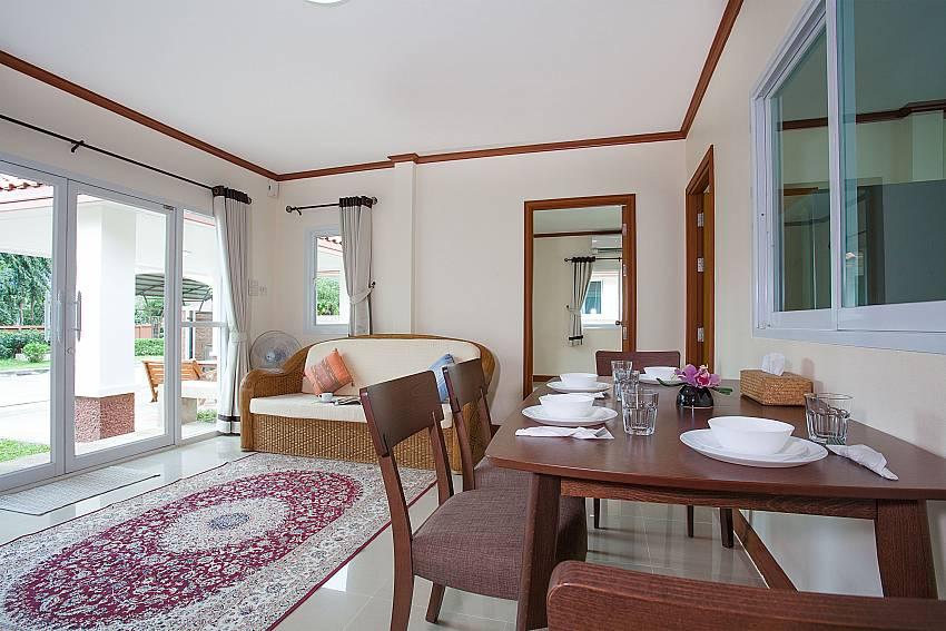 Dinning area Timberland Lanna Villa 305 in Bangsaray Pattaya