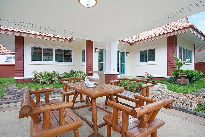 Dinning area Timberland Lanna Villa 306 in Bangsaray Pattaya