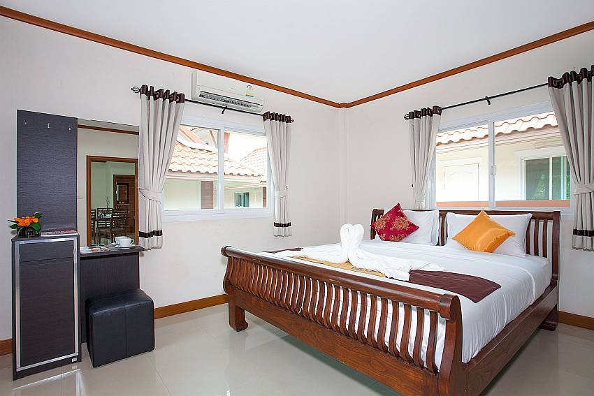 Bedroom Timberland Lanna Villa 306 in Bangsaray Pattaya