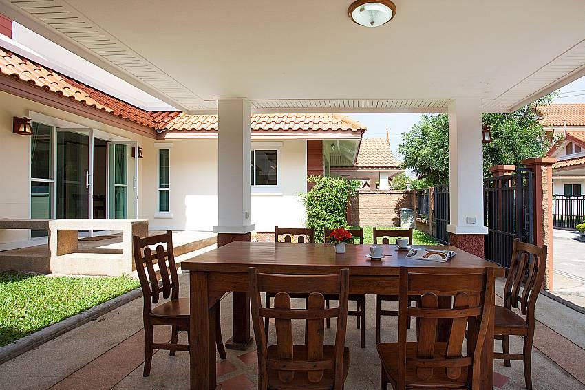 Seat area Timberland Lanna Villa 401 in Pattaya