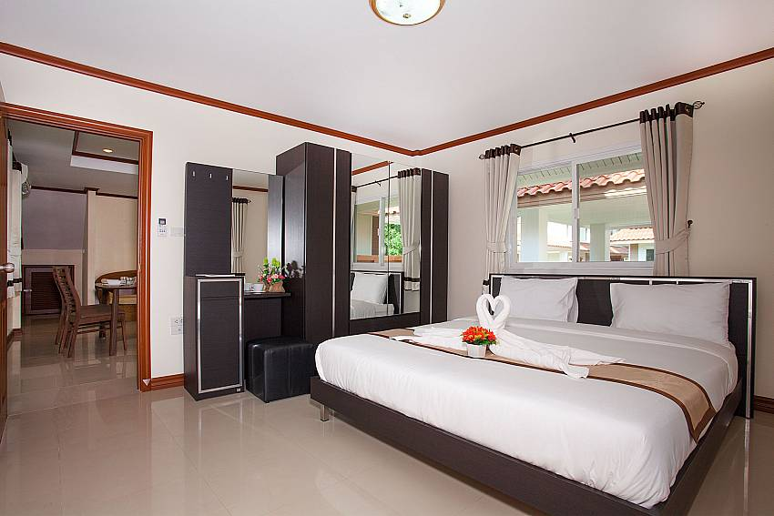 Bedroom Timberland Lanna Villa 402 in Bangsaray Pattaya