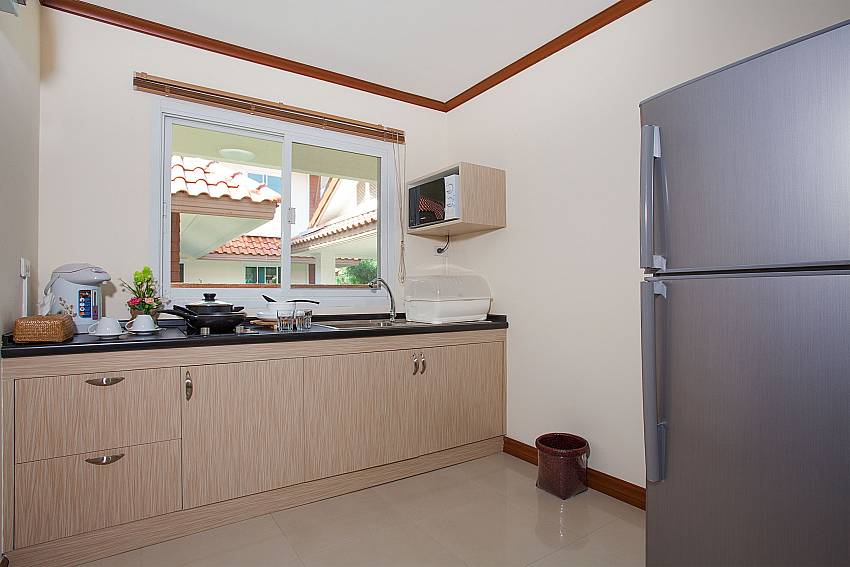Kitchen Timberland Lanna Villa 402 in Bangsaray Pattaya