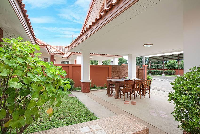 Seat area Timberland Lanna Villa 403 in Pattaya