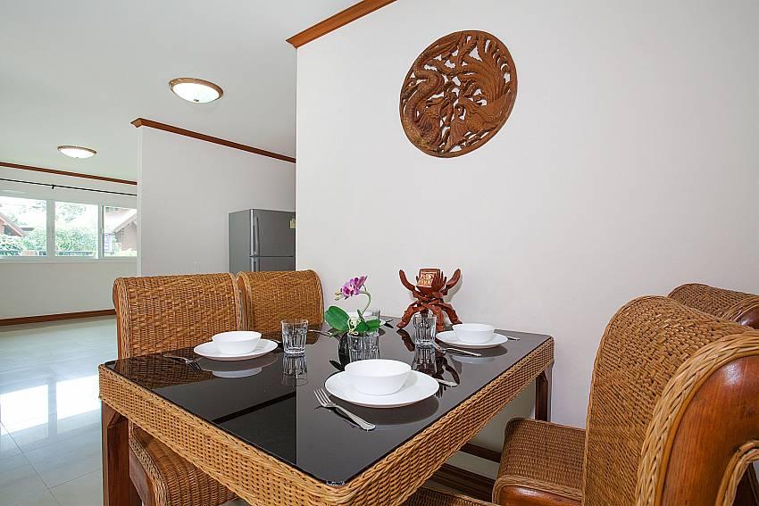 Dinning area Timberland Lanna Villa 403 in Pattaya