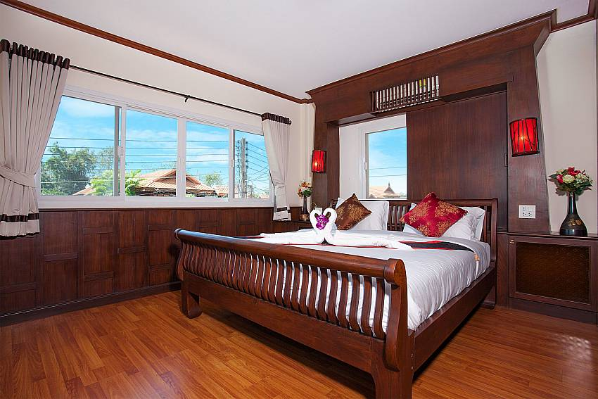 Bedroom Timberland Lanna Villa 404 in Pattaya